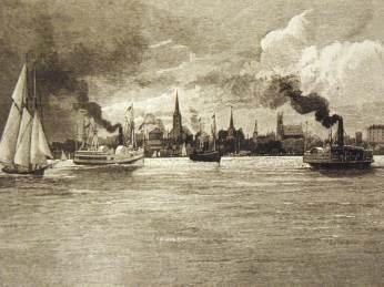 Charlottetown Harbour Harper's 1870