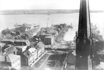 Charlottetown Waterfront from St. Dunstan's Spire, 1888 PARO Acc2301/74