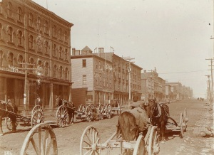 The west side of Queen Street Courtesy of the Public Archives and Records Office