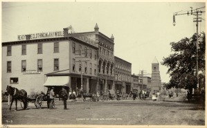 The corner of Queen and Grafton Street, Courtesy of the Public Archives and Records Office Acc3218/41