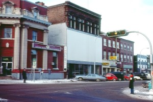 East side of Queen Street, Courtesy of SCott MacDonald, author of Charlottetown: Then and Now