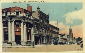 Upper Queen Street, Postcard courtesy of the PEI Museum and Heritage Foundation Collection