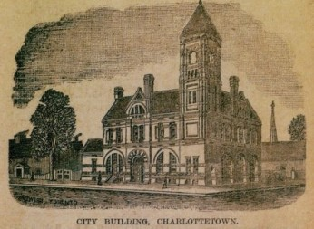 City Hall depicted in an advertisement for architects Phillips and Chappell