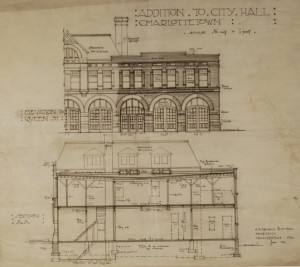 City Hall plan addition Phillips and Chappell, 1916
