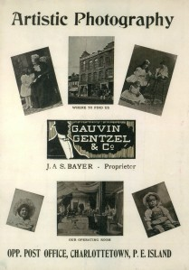 Gauvin, Gentzel & Co., Advertisement, Photographs of Prince Edward Island, c. 1900