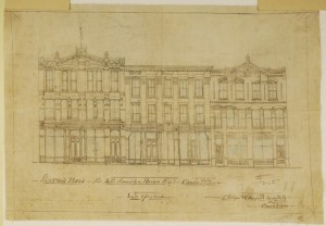 Plan for Brown Block, Courtesy of the Public Archives and Records Office Acc3452-4