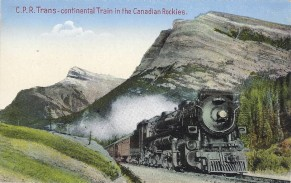 CPR Transcontinental Train in the Rockies