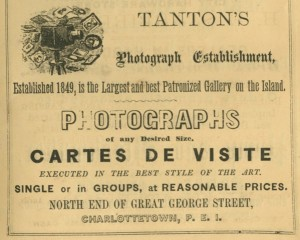Tanton's Photographic Studio, Advertisment