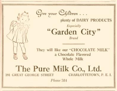 Garden City advertisement, 1937 Charlottetown City Directory