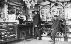 Interior of the Two Macs Drugstore, 149 Great George Street, Public Archives and Records Office