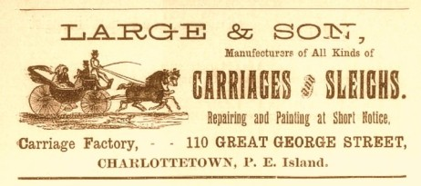 Large & Son advertisement, McAlpine's Directory 1900