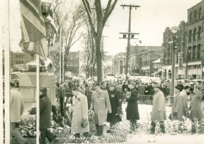 Remembrance Day Ceremony at the Cenotaph, undated D. Scott MacDonald Collection