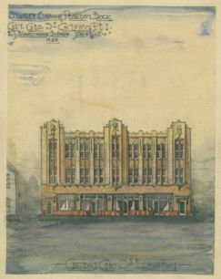 Stanley, Shaw & Peardon Building, elevation by E.S. Blanchard, 1930, Public Archives and Records of Office