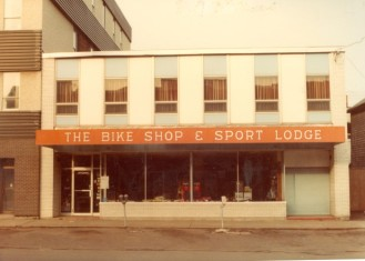 The Bike Shop and Sport Lodge, 1983, City of Charlottetown Collection