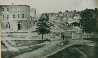 The east side of Great George Street from Queen Square, c.1864, Public Archives and Records Office