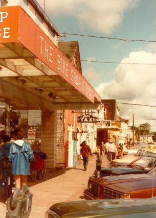 The west side of Great George Street between Kent and Fitzroy Street, c. 1983, City of Charlottetown Collection