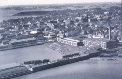 Railyard from the East <br> Photo courtesy of the Charlottetown Area Development Corporation