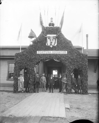 Charlottetown's first railway station <br> Photo Courtesy of the Public Archives and Records Office
