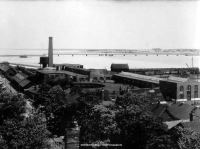 Railyard from the west <br /> Photo Courtesy of the CN Collection