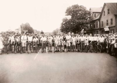 Bicycle Race Great George Street c. 1920 <br> Courtesy of the City of Charlottetown