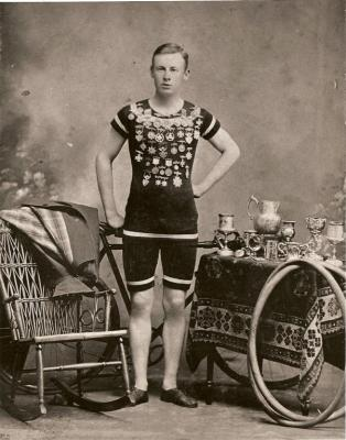 Lorne Unsworth (1878-1917), Cycling Sports Hero, c 1890 <br> PEI Sport Hall of Fame Collection, City of Charlottetown Archives