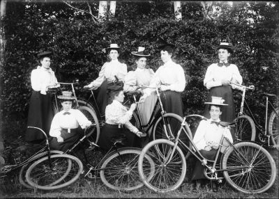 Women Posing With Bicycles, 1897 <br> Public Archives and Records Office Acc 3466 -HF72.667.39.1