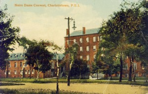 Notre Dame Convent and Academy, c. 1911 <br> Photo Courtesy of the City of Charlottetown Postcard Collection