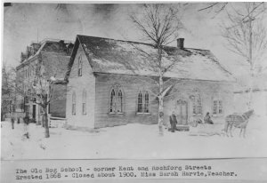 The Bog School and West Kent School, c. 1870 <br> Photo Courtesy of the Public Archives and Records Office Acc2320-35-8