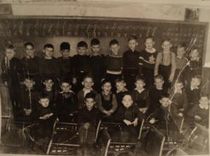 Miss Mary Moran's Grade 1 Class, Queen Square School, 1947-1948 <br> Photo Courtesy of the Diocese of Charlottetown