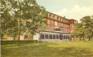 Saint Dunstan's University, Main Building, Postcard <br> Photo Courtesy of the City of Charlottetown Postcard Collection