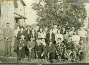 Grade 10 Class, Spring Park School, 1952 <br> Photo Courtesy of the Gary Carroll Collection, City of Charlottetown Archives