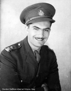 Lieutenant Gordon Roland DeBlois (1921 -1943) <br> Courtesy of the Dorothy Forsythe Collection, City of Charlottetown Archives
