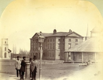 Queen Square c.1863 <br> Photo courtesy of Public Archives and Records Office