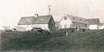 The Heartz and later Parkman Farm prior to the fire in 1908 <br> Doug Parkman Collection (Medium)