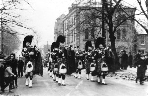 Prince Edward Island Highlanders, Victoria Row, 1938 <Br> Photo courtesy of the Prince Edward Island Regiment Museum