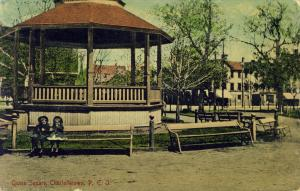The Bandstand on Queen Square, Postcard <Br> Postcard courtesy of the City of Charlottetown Archives