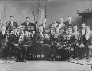 Professor Vinnicombe's Orchestra, c.1893 <Br> Photo courtesy of the Public Archives and Records Office