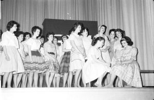 """What's the Use of Wonderin"" Saint Dunstan's University Production of Carousel, 1961-1962 <br> Photo courtesy of Gordon Harris, Saint Dunstan's University Archive"