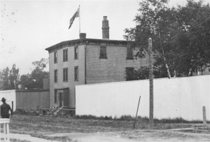 Harvey's Brig on Pownal Square, c. 1880 <br> Photo courtesy of the Public Archives and Records Office, Acc2320/55-11