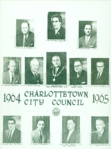 Charlottetown City Council and the City Comptroller, 1964-1965 <br> City of Charlottetown Archives
