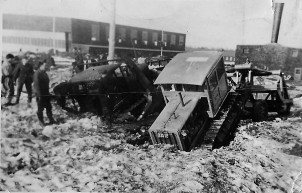 Stuck in the Mud at the No. 31 General Reconnaissance School, c. 1941 <br> Prince Edward Island Regiment Museum