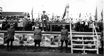 The Carry On Canada Review, Exhibition Grounds, 1940 <br> Dorothy Forsythe Collection, City of Charlottetown Archives