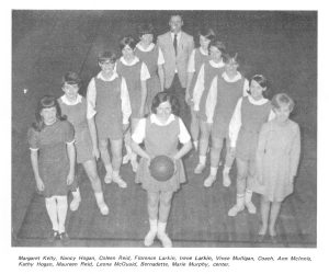 The St. Dunstan's University Girls Basketball Team, 1969 <br> Mnemosyne, 1969