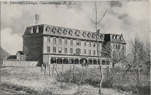 Main Building, 1909 <br> Photo from the Postcard Collection, City of Charlottetown Archives