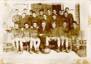 The Prince of Wales College Rugby Team, 1938 <br /> The Saunders Family Collection, City of Charlottetown Archives