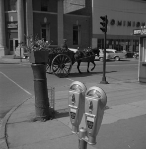 oal Delivery by Horse and Wagon, the corner of Queen and Grafton Street, 1958 <br> Library and Archives Canada / National Film Board fonds / e011176837